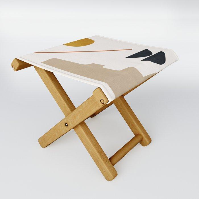 abstract minimal 6 Folding Stool