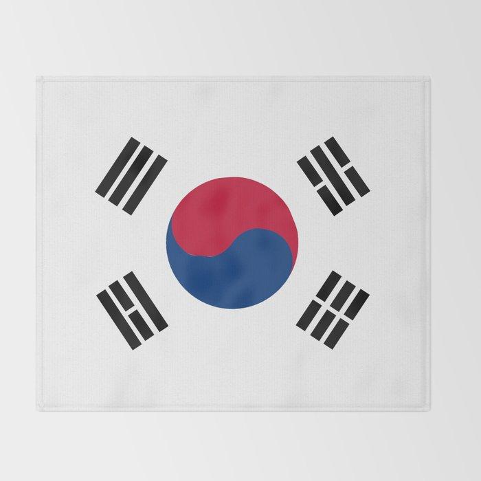 South Korean Flag Throw Blanket