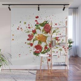 Beautiful Australian Native Floral Graphic Wall Mural