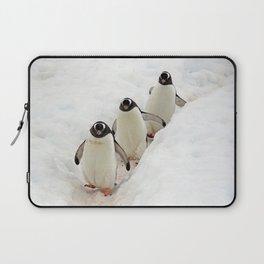 Gentoo Penguins on a Fishing Trip Laptop Sleeve