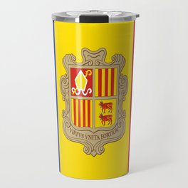 Flag Of Andorra Travel Mug