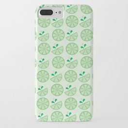 Cheerful Citrus in Green iPhone Case