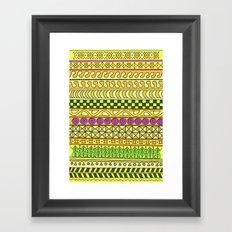 Yzor pattern 011 Yellow Things Framed Art Print