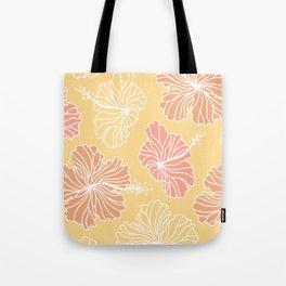 Mustard Hibiscus Tote Bag