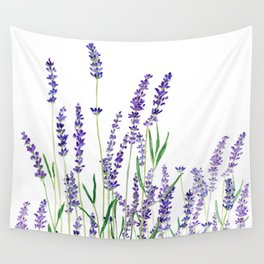 lavender watercolor horizontal Wall Tapestry