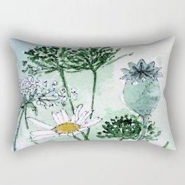 Thistles and Daisies Rectangular Pillow