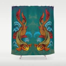 A tale of two fins. Shower Curtain