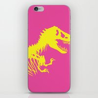 jurassic park iPhone & iPod Skins featuring Retro Jurassic Park by Joseph Raj