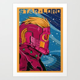 Starlord Guardians of the galaxy Art Print