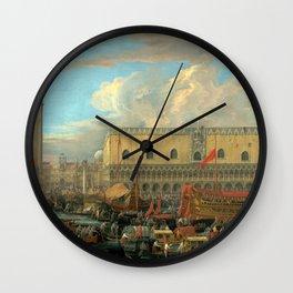 Luca Carlevarijs The Bucintoro Departing from the Bacino di San Marco Wall Clock