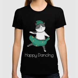 funny cat shirt cats tshirt dancing cat T-shirt