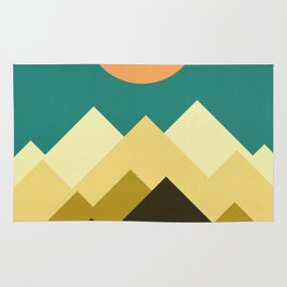 Mountains at sunset I Rug