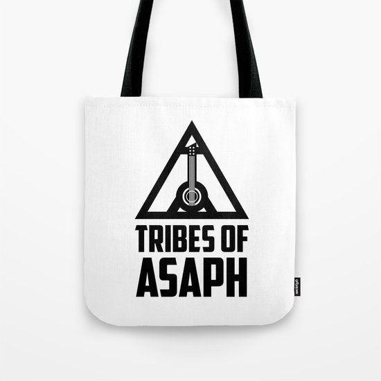 Tribes Of Asaph (Black on light) Tote Bag