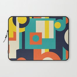 Funky Geometry (Modern Vibrant Color Palette) Laptop Sleeve