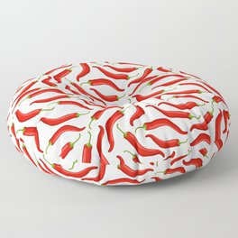 Hot red chili pepper pattern Floor Pillow