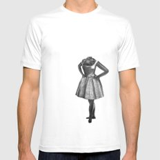 Tiny Dancer White MEDIUM Mens Fitted Tee