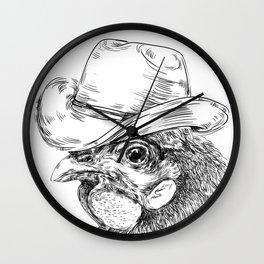 Cowboy cock Wall Clock