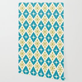 Mid Century Modern Atomic Triangle Pattern 108 Wallpaper