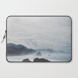 Mist Over Cannon Beach Laptop Sleeve