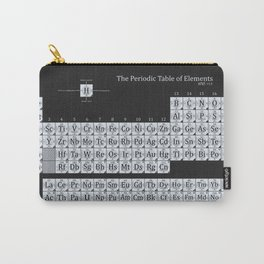 Grayscale Periodic Table of Elements Carry-All Pouch