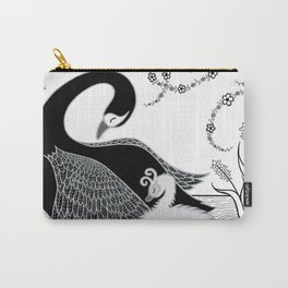 Black Swan and Moonlark Carry-All Pouch