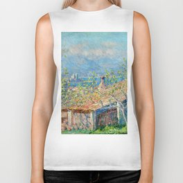 "Claude Monet ""Gardener's House at Antibes"", 1888 Biker Tank"
