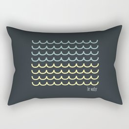 Blue and  yellow waves Rectangular Pillow