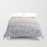silver Duvet Covers featuring SILVER by Monika Strigel