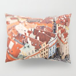 Red Roof Prague Pillow Sham