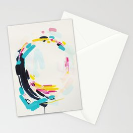 Yesterday to Tomorrow - abstract painting by Jen Sievers Stationery Cards