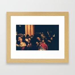 Dark Eyes Say Light Things Framed Art Print