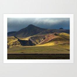 Mountain side in Iceland Art Print