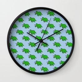 Cute Triceratops pattern Wall Clock