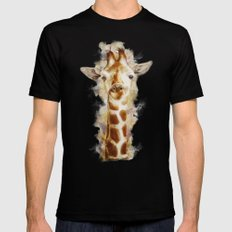 giraffe SMALL Black Mens Fitted Tee