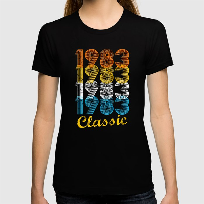 34th Birthday Gift Vintage 1983 T Shirt For Men Women Shirts And Hoodies