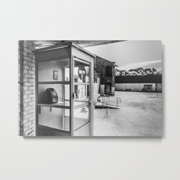 Phone Booth Metal Print