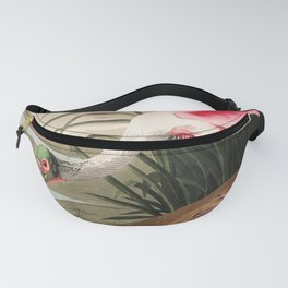 Tropical Exotic Fantasy Bird Landscape Fanny Pack