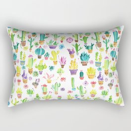 Happy Cactuses Rectangular Pillow