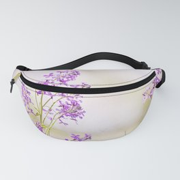 Purple Nature Photography, Lavender Floral Botanical Photography, Light Purple Nature Art Fanny Pack