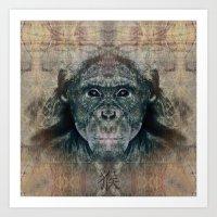 monkey Art Prints featuring Monkey by Zandonai