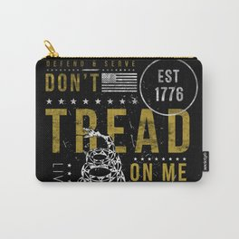 Gadsden Flag Don't Tread on Me Revolution USA Military Rattlesnake Flag Grunge Distress Carry-All Pouch