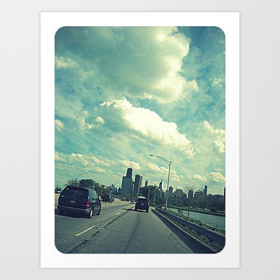 Chicago ~ Lake Shore Drive ~ Skyline Art Print