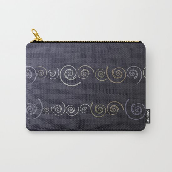 Spiral line up-Purple Carry-All Pouch