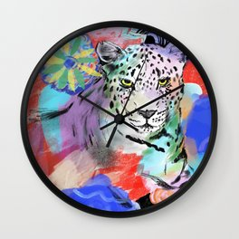 Electric Leopard Wall Clock