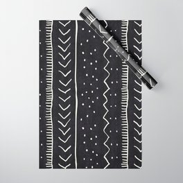 Moroccan Stripe in Black and White Wrapping Paper