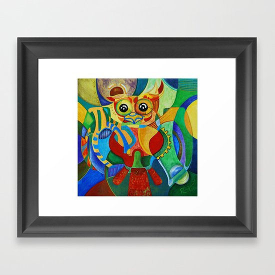 Rainbow Owl Framed Art Print