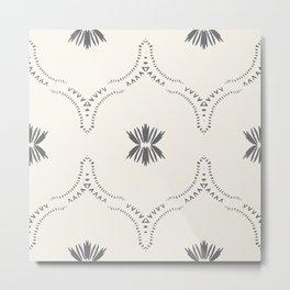 WILDFLOWER JASMIN GREY Metal Print