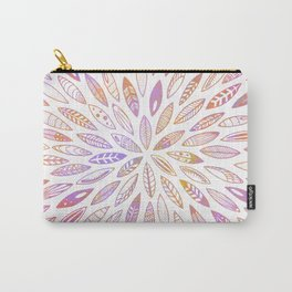 Pink Leaves, Feathers, Seashells, Wings and Seeds Carry-All Pouch
