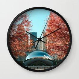 Chicago Cloud Gate Wall Clock