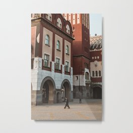People on the streets of Subotica, Serbia // fall // autumn Metal Print